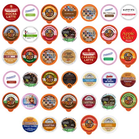 Flavored Coffee, Tea, Hot Cocoa and Cider Single Serve Cups for Keurig K cup Brewers, 40 Count (Luring Tea)