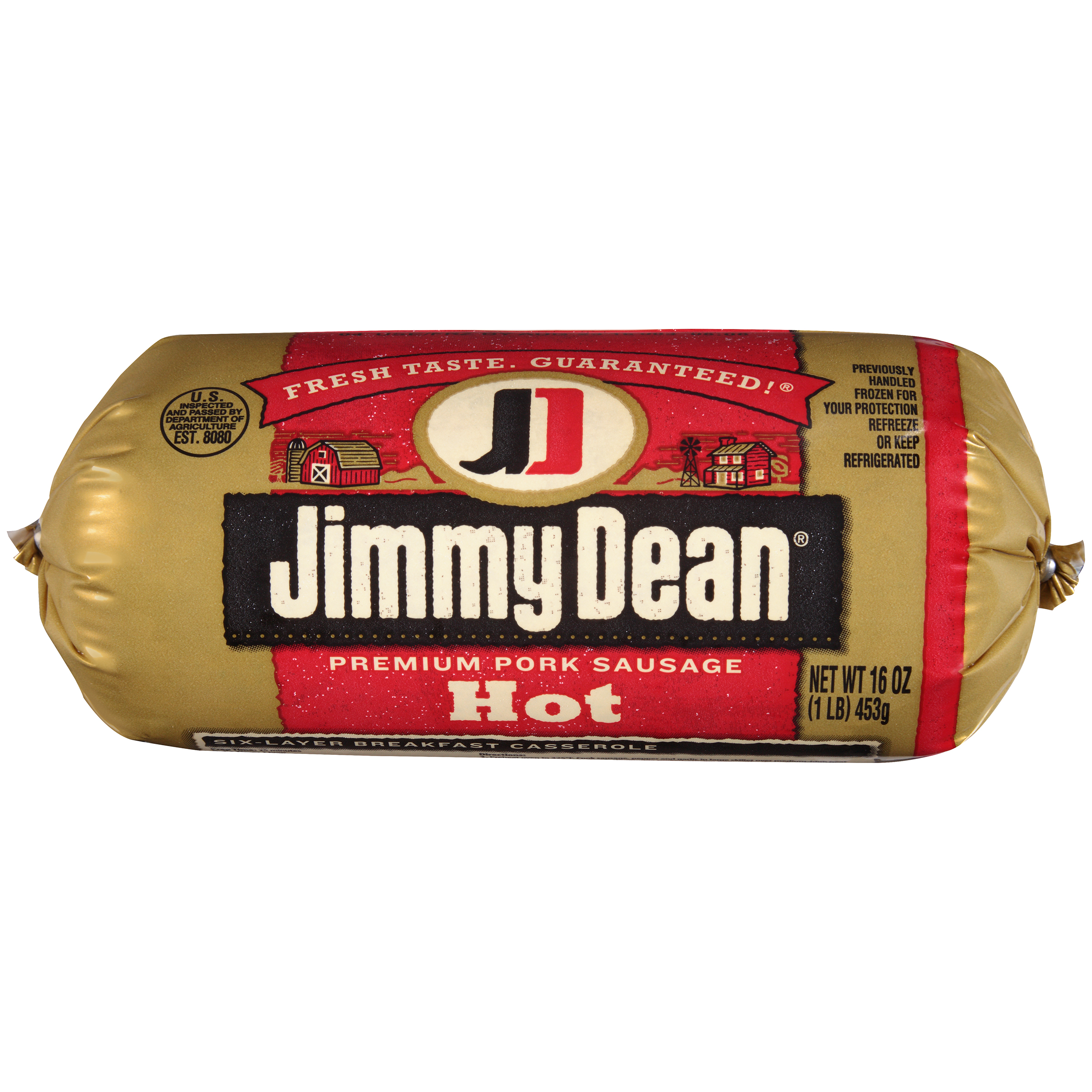 Jimmy Dean® Premium Pork Hot Sausage Roll, 16 oz.