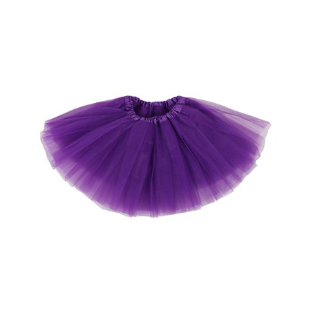 64b34fa5eb BASILICA - Little Girls Tulle Tutu Skirt Princess Ballet Dance Dress,  Purple - Walmart.com