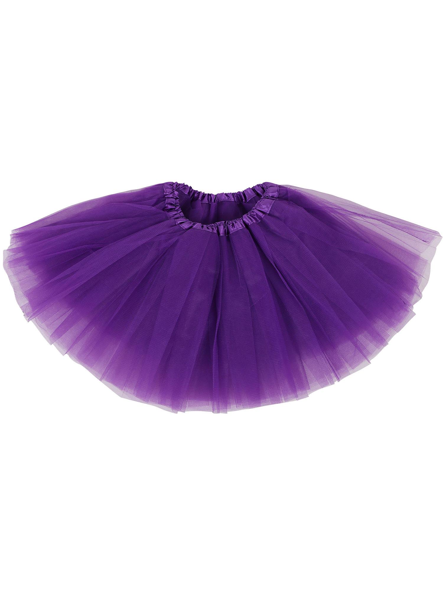 Little Girls Tulle Tutu Skirt Princess Ballet Dance Dress, Purple