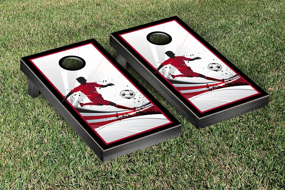 Soccer Player Cornhole Game Set by Victory Tailgate