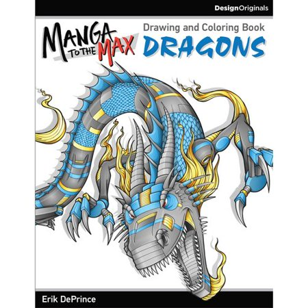 Manga To The Max Dragons  Drawing And Coloring Book