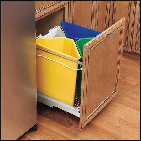 Rev-A-Shelf 25 Quart Blue Replacement Waste Container Bin Only for 5349-9WM Series, Min. Cabinet Opening: 18-7/8
