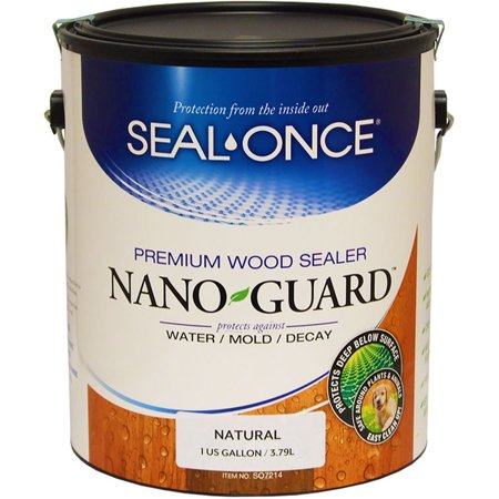 Guard Sealer (Seal Once 3111 premixed Nano Guard Premium Wood Sealer Natural gallon )