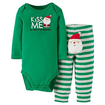 Christmas Kiss 3.Carter S Christmas Kiss Me Santa 2 Piece Outfit 3 Months
