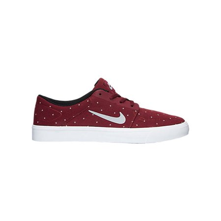 Men's Nike SB Portmore Canvas Premium Casual Shoes Red/Grey