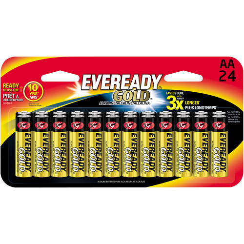 Eveready Gold Battery, AA, 24-Pack