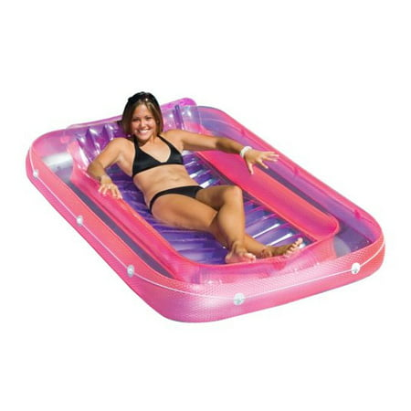 Swimline 71 Inch Swimming Pool Inflatable Suntan Tub Lounge Water Raft - Inflatable Party Rafts