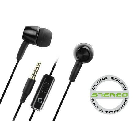 LG Stylo 2V Black Hands Free Stereo Soft Earbuds