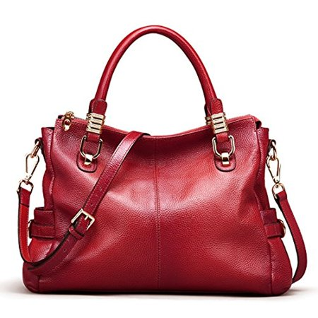 AINIMOER - AINIMOER Womens Genuine Leather Vintage Tote Shoulder Bag  Top-handle Crossbody Handbags Large Capacity Ladies  Purse - Walmart.com ed1686f53b102