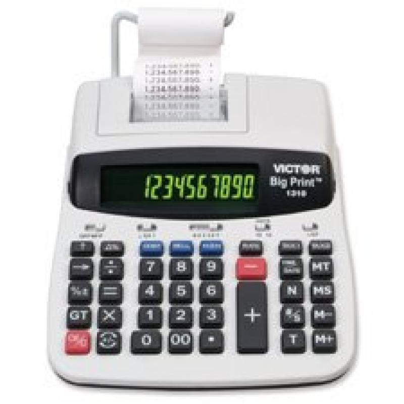 """12/10-Digit Calculator, Thermal Printing, 7-3/4""""""""x10""""""""x2-1/2, Sold as 1 Each"""