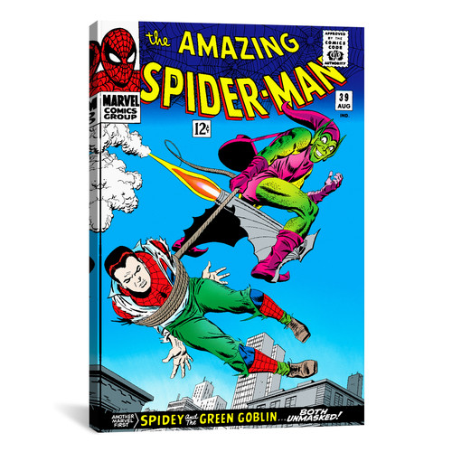 iCanvas Marvel Comics Book Spider-Man Issue Cover #39 Graphic Art on Wrapped Canvas