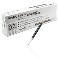Pentel Refill Ink for EnerGel RTX Retractable Liquid Gel Pen, 12 Pack, 0.7mm, Medium Line, Navy Blue (LR7-CA)