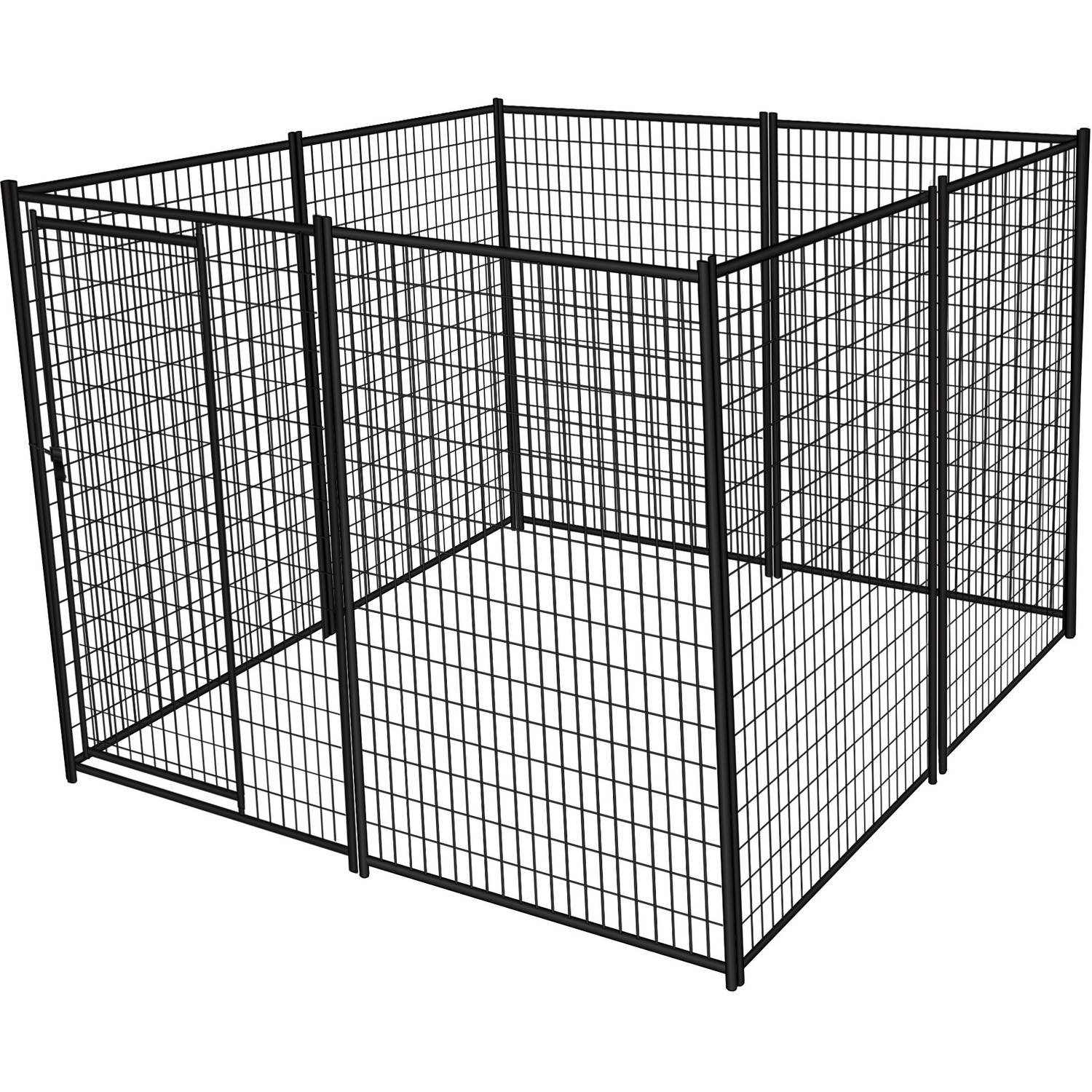 Lucky Dog 2-in-1 6.5-foot/ 10-foot Galvanized Chain Link Kennel ...