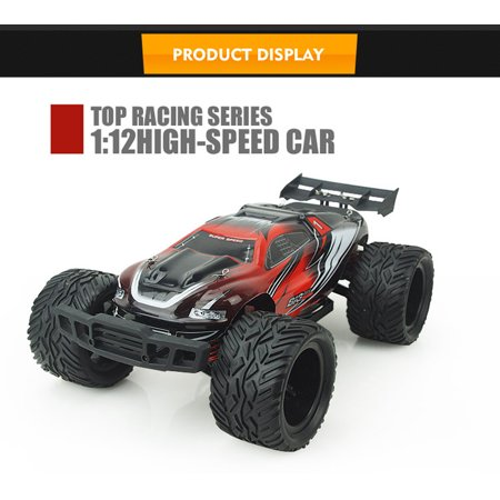 1/12 2.4G 4WD High Speed Off Road RC Buggy Racing Monster Truck Remote Control Car RTR R/C (Red)