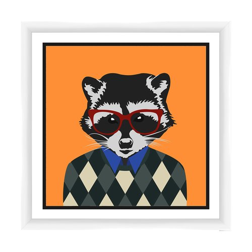 PTM Images Racoon Framed Graphic Art