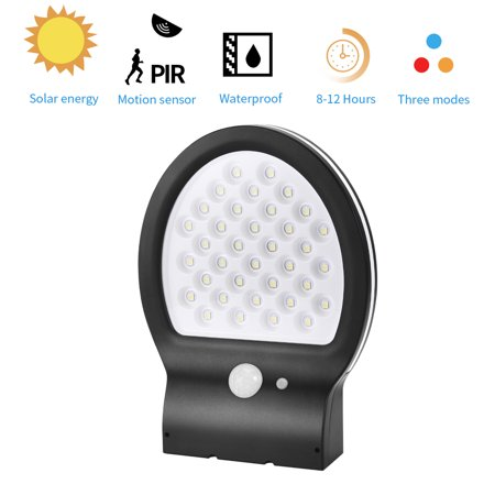 Reactionnx 38 LED Solar Power Motion Sensor Wall Light Lamp, Waterproof Outdoor Garden Yard Courtyard Swimming Pool Lawn