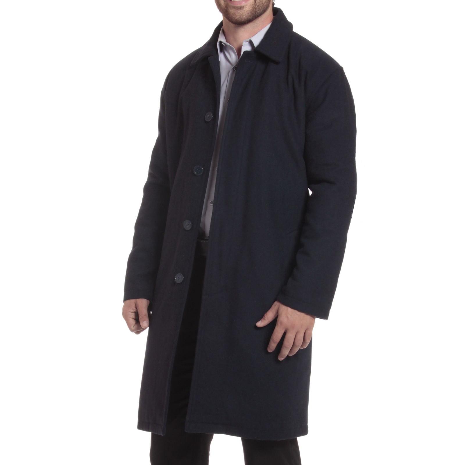 Alpine Swiss Men's Zach Knee Length Jacket Top Coat Trench Wool Blend Overcoat by Mens Wool Coats