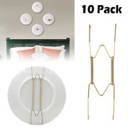 8/10/12Inch 10 Pack Practical Wall Plate Hangers Golden with Stainless Steel, Decorative Dish Hanging Holder