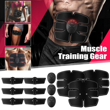 - ABS Stimulator Training, Buttocks Arms Abdominal Muscle Trainer Smart Body Building Fitness Ab Core Toners Work Out