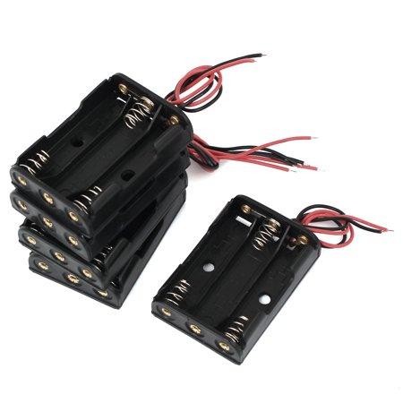 Unique Bargains 5 Pcs 4.5V Output 3 x AAA Battery Open Holder Case ...