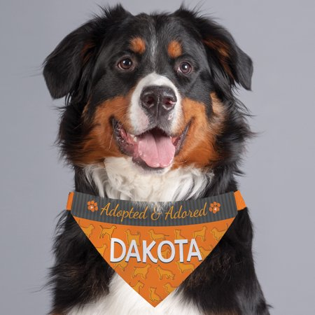 Adopted and Adored Personalized Pet Bandana Collar Cover