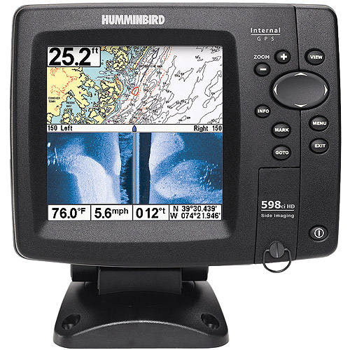 humminbird fishfinder 598ci hd si color gps combo with side, Fish Finder