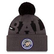 Baltimore Ravens New Era 2020 NFL Sideline Sport Pom Cuffed Knit Hat - Graphite/Black - OSFA