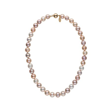 (9.5-10.5 mm Multicolor Freshadama Freshwater Pearl Necklace)