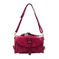 Unique Bargains Women's Leatherette Detachable Strap Crossbody Shoulder Bag