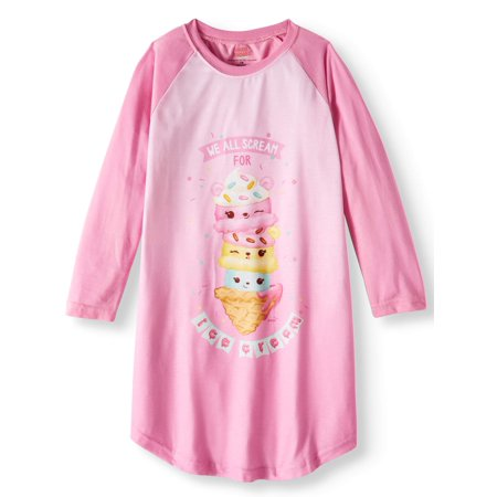 Num Noms 'We All Scream for Ice Cream' Raglan Nightgown (Little Girls & Big Girls)