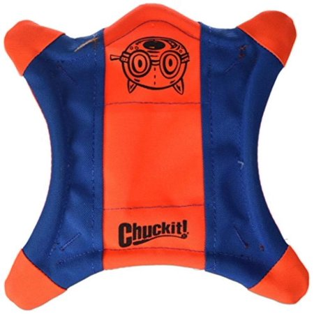 Squirrel Dog Toy (Chuckit! Flying Squirrel Spinning Dog Toy Orange/Blue 3 Sizes Available, AERODYNAMIC SHAPE: Ideal for toss and fetch, these spinning dog toys are.., By Chuck)
