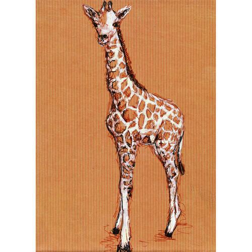 Oopsy Daisy's Giraffe Baby Canvas Wall Art, 10x14