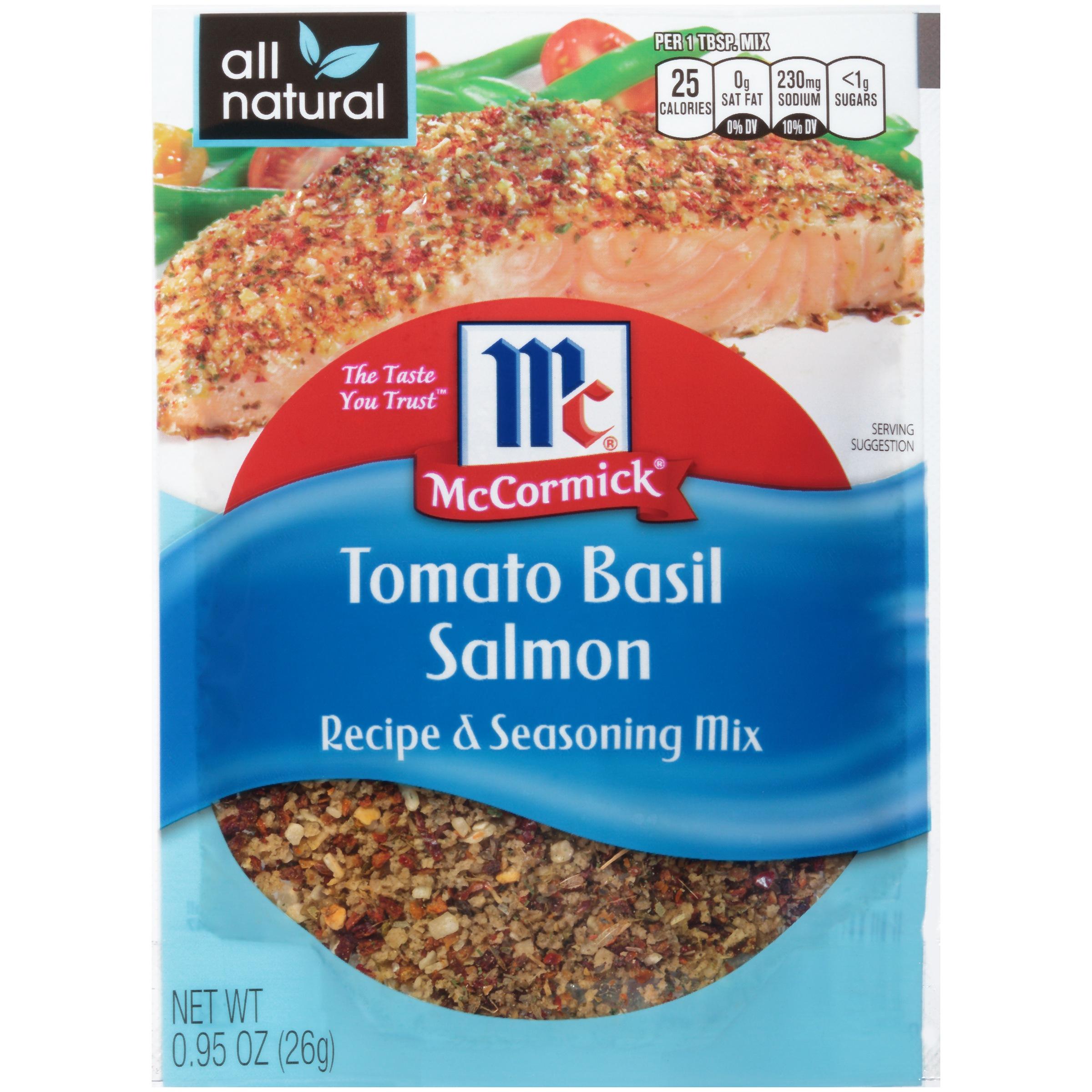 McCormick Tomato Basil Salmon Recipe & Seasoning Mix, 0.95 oz