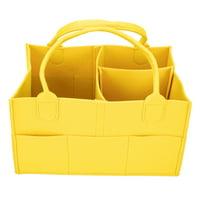DODOING Baby Diaper Caddy Organizer, Portable Felt Storage Bag Perfect Gift Set Soft and Stylish, Grey/ Black/ Coffee/ Brown/ Yellow