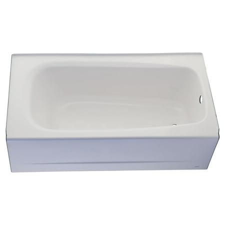 American Standard Cambridge 60 in x 32 in Right Drain Americast Soaking Tub in