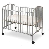 L.A. Baby Folding Portable Mini Crib with Mattress