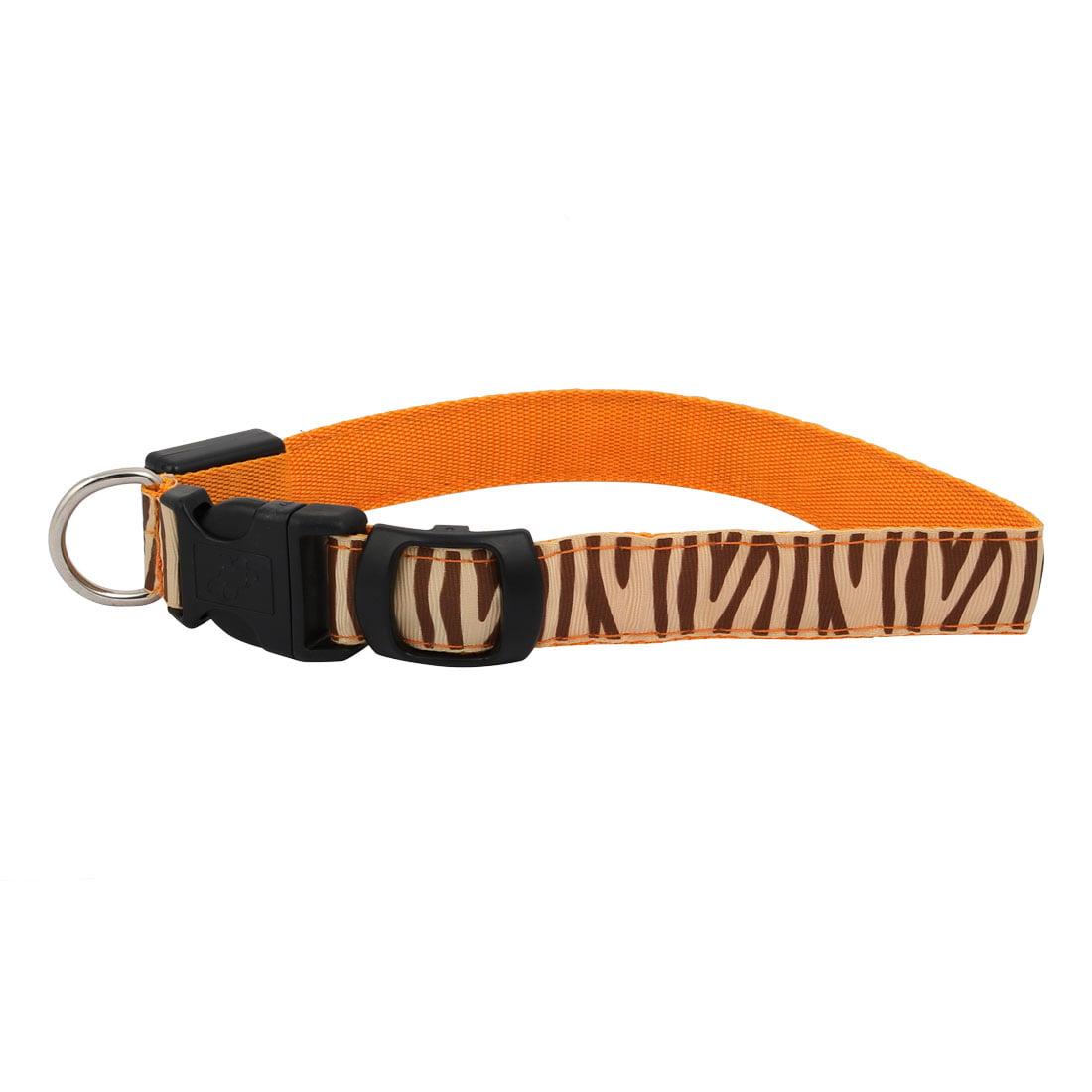 Unique Bargains Orange LED Light Flashing Zebra-Stripe XL Size Dog Neck Collar USB Rechargeable - image 4 of 7