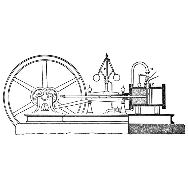 Internal Combustion Engine. /Nside View Of A Plan Of