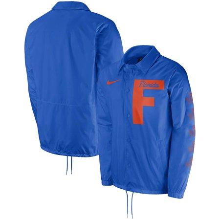 Florida Gators Nike Replica Coaches Performance Full-Snap Jacket - Royal