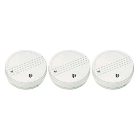 KIDDE SMOKE DETECTOR WITH TEST BUTTON AND 9-VOLT DC BATTERY 3 Pack