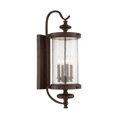 Wall Sconces 4 Light With Walnut Patina Finish Candelabra Bulbs 11 inch 160 Watts 160 Series Wall