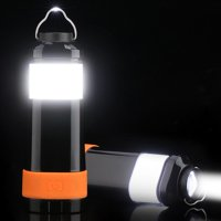 HERCHR Mini Lightweight Camping Lantern, Collapsible LED Lantern Flashlight Ultra Bright Batteries Operated Tent Light Fit for Outdoor Camping Hiking Fishing Emergency Power Outage Lighting