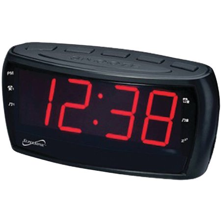 supersonic am fm alarm clock radio with jumbo digital display. Black Bedroom Furniture Sets. Home Design Ideas