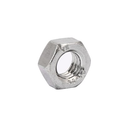 304 Stainless Steel Finished Metric Hex Nut Silver Tone M6 20pcs - image 2 of 3