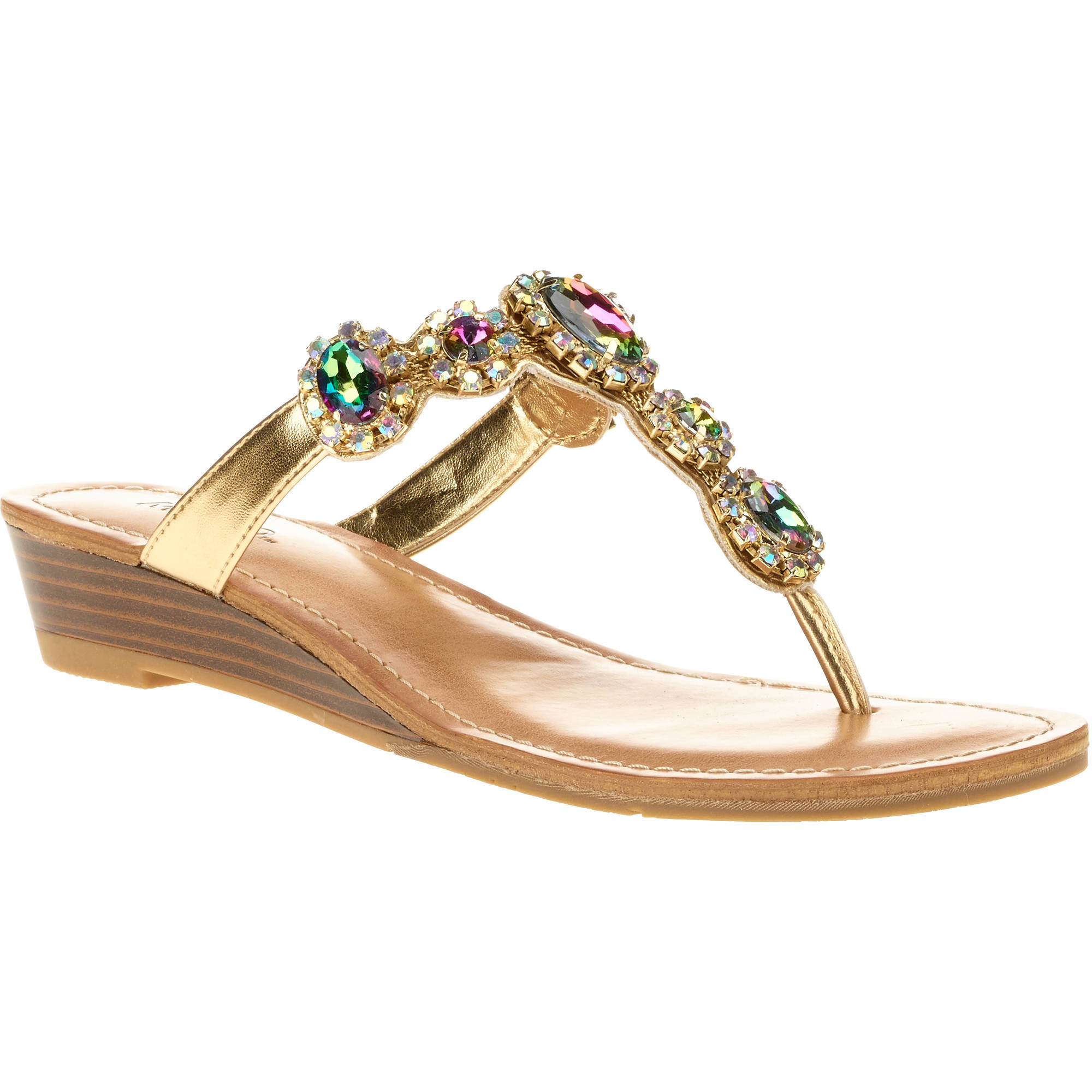 Mo Mo Women's Fame Iridescent Jeweled Sandal