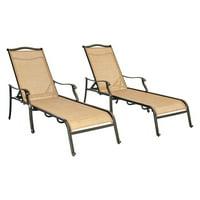 Hanover Outdoor Monaco Chaise Lounge Set, Cedar/Bronze
