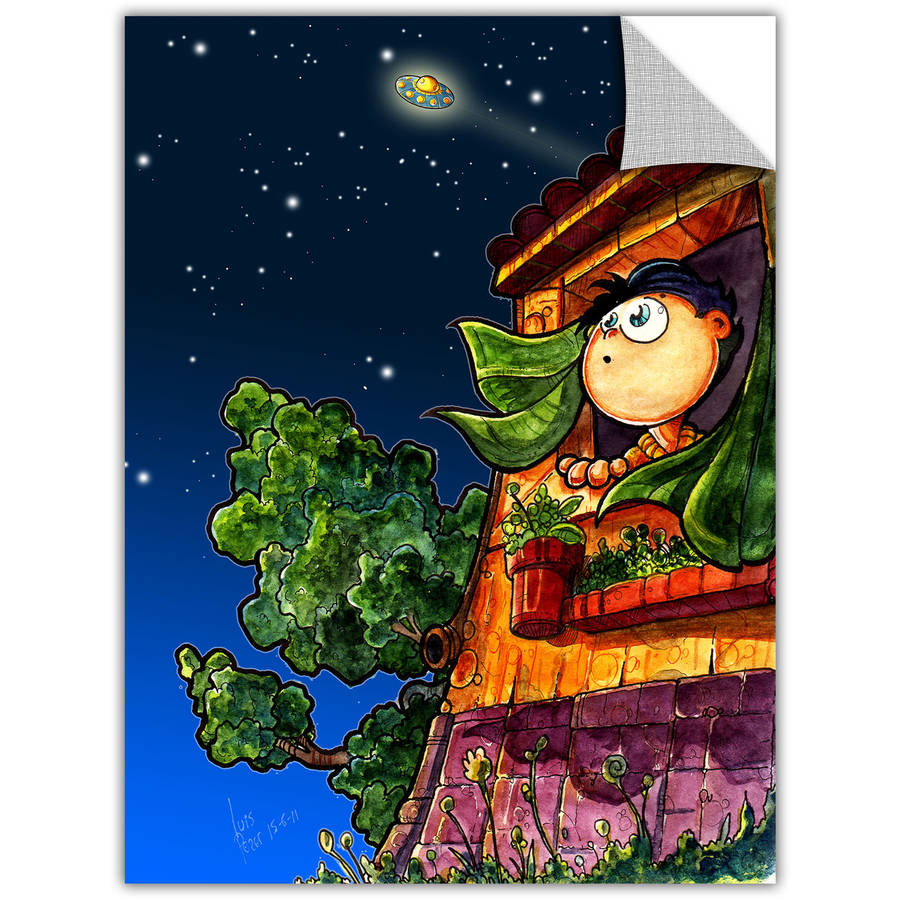 """Luis Peres """"Ufo Kid 1"""" Removable Wall Art Graphic"""