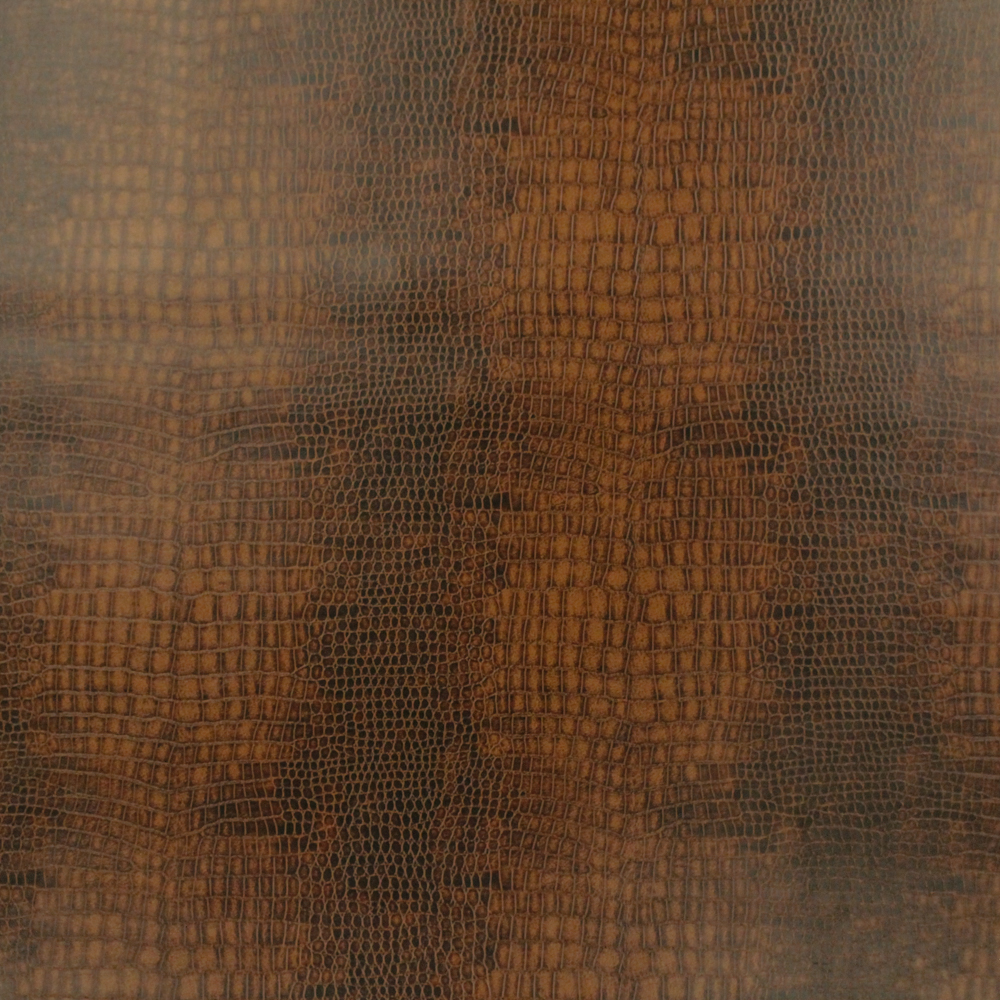 "100% Polyurethane Face Faux Leather 54"" Small Crock Brown Fabric, per Yard"