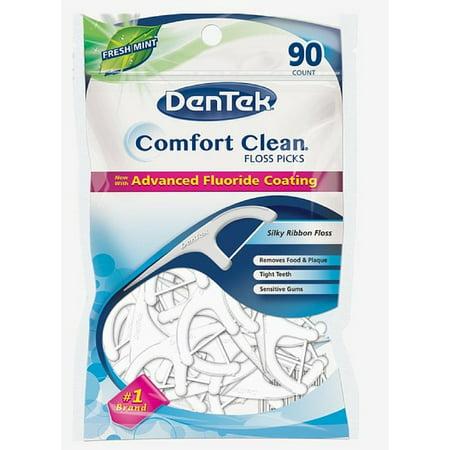 Silk Floss Set (3 Pack - DenTek Comfort Clean Silk Floss Picks 90 Each )